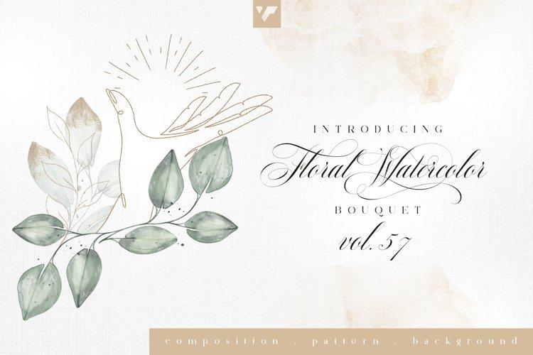Floral Watercolor Bouquet Vol57 example image 1