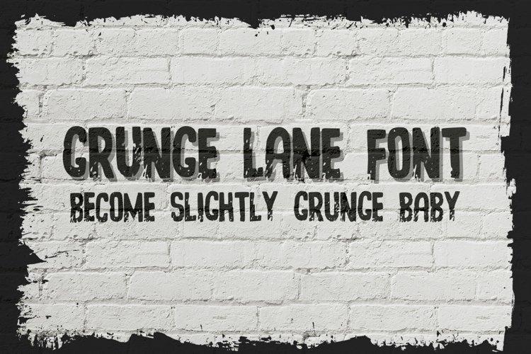 Grunge Lane Font example image 1