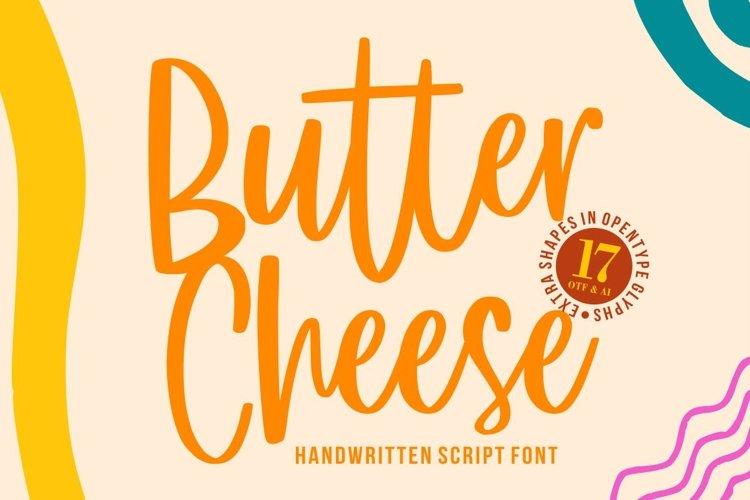 Butter Cheese - Handwritten Font example image 1