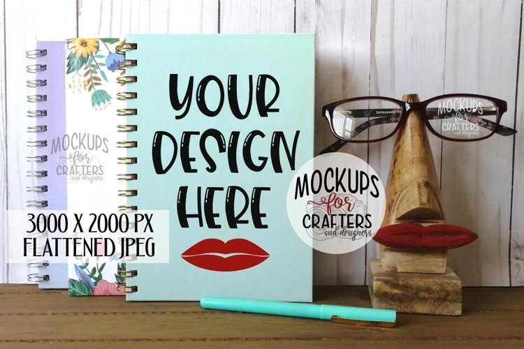 Stationery, Paper, Notebook Mock-Up