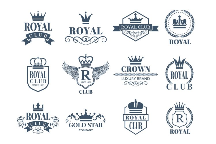 Royal and luxury badges set example image 1
