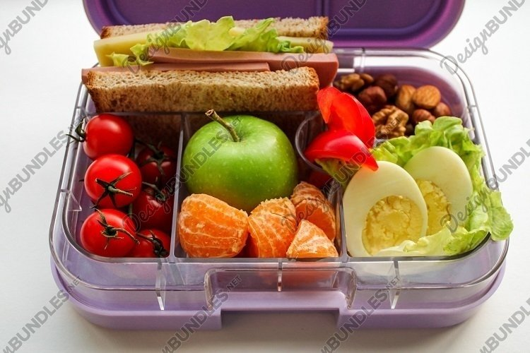 Healthy lunchbox close up example image 1
