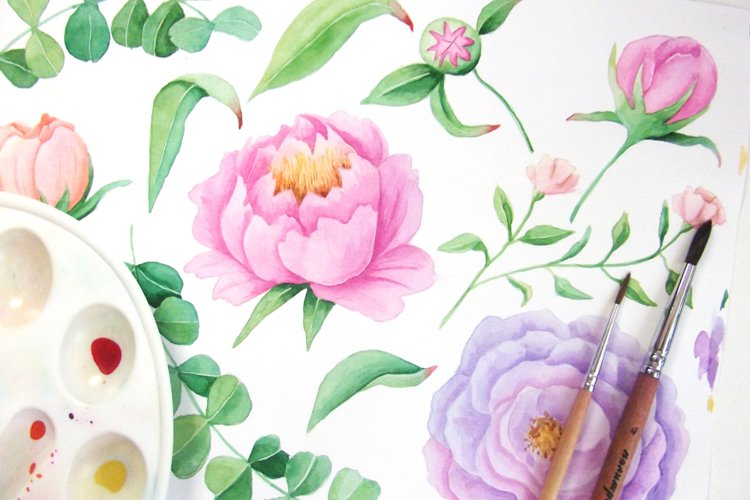 Watercolor Floral DIY Set - Free Design of The Week Design5