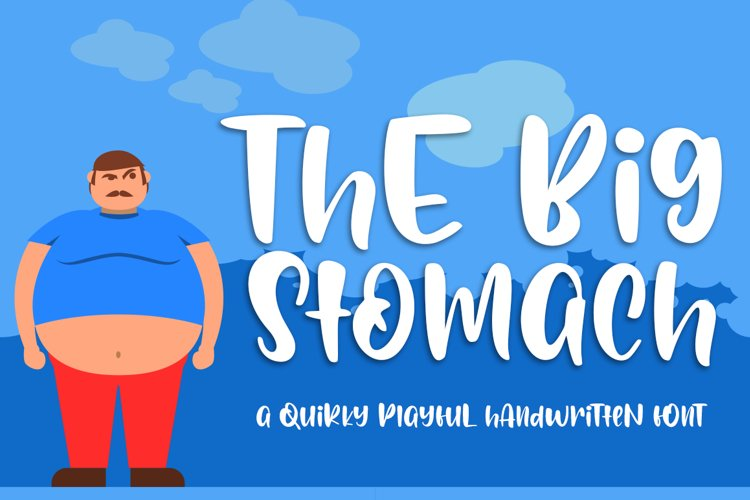 Big Stomach Playful Handwritten Font example image 1
