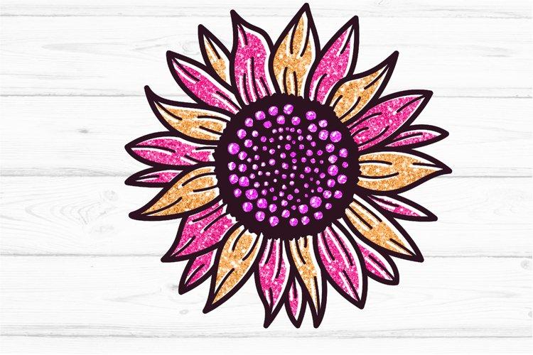 Golden Glitter Sunflowers Sublimations mini Bundle, Sunflowe example 1