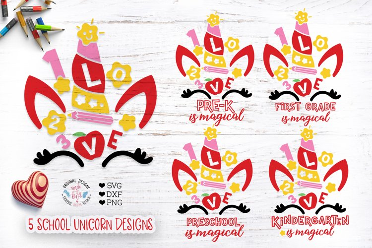 Cute Unicorn Faces Cut Files and Sublimation Bundle