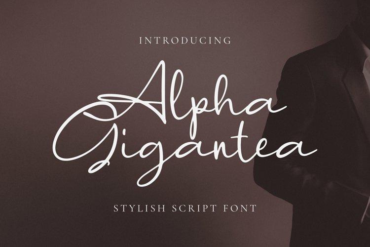 Alpha Gigantea Font example image 1
