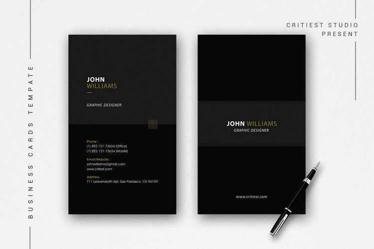 Minimal Individual Business Cards example image 1
