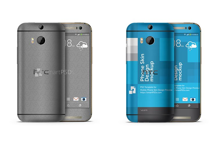 HTC One M8 Mobile Skin Design Template 2014 example image 1