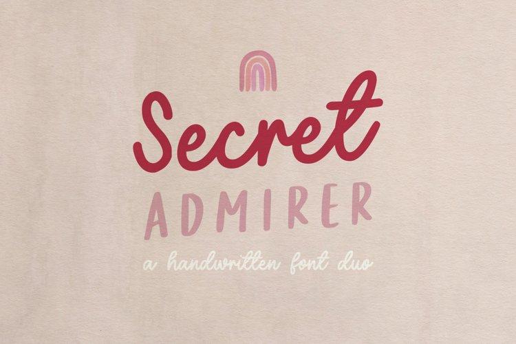 Secret Admirer handwritten font duo example image 1