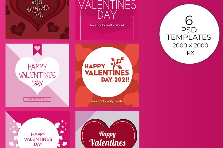 Valetines Day Pack - 6 Templates