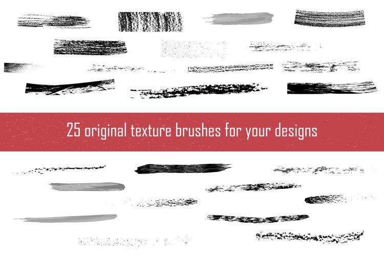 25 original texture brushes