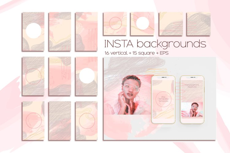 Instagram template, rose terracotta Instagram background example image 1