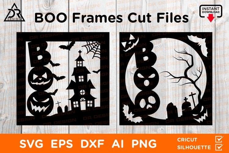 BOO Halloween Frames Cut Files