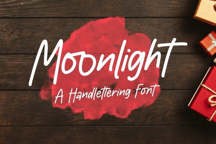 Web Font Moonlight - Handlettering Font example image 1