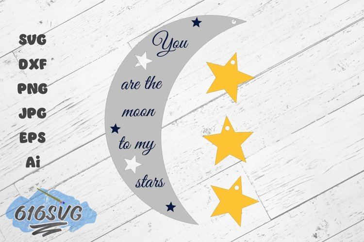 You Are The Moon To My Stars Laser Design example image 1