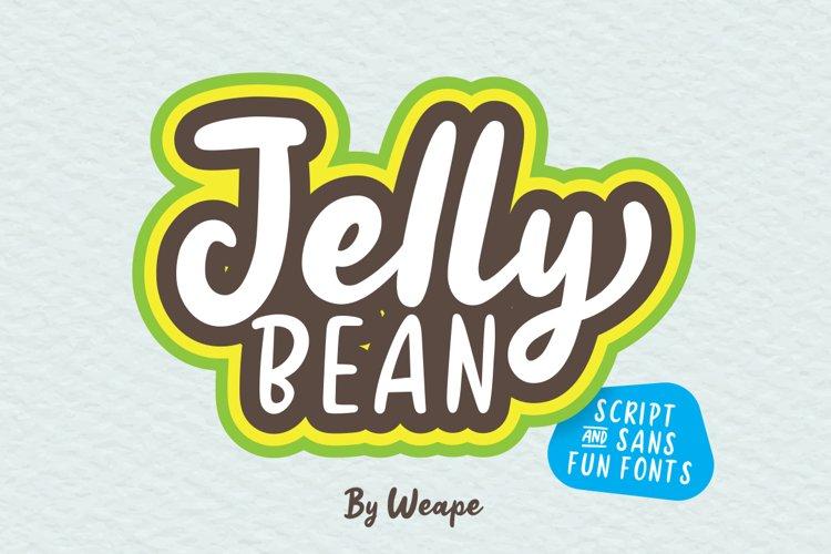 Jellly Bean Script & Sans Fun Font example image 1