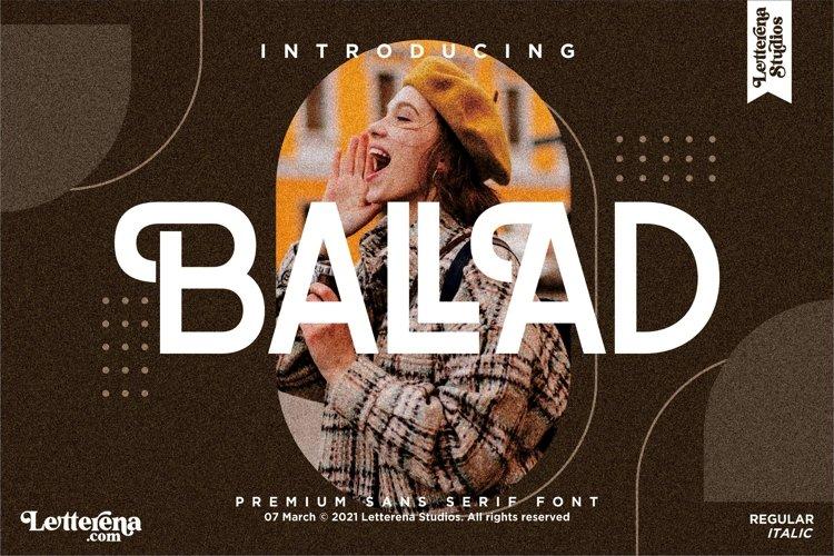 BALLAD - Stylish Sans Serif Font example image 1