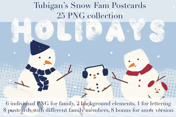 Snow Family Postcards example image 1