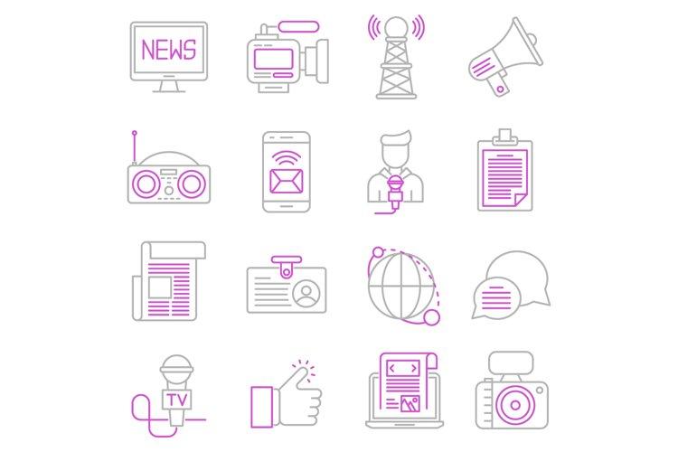 News icons set example image 1