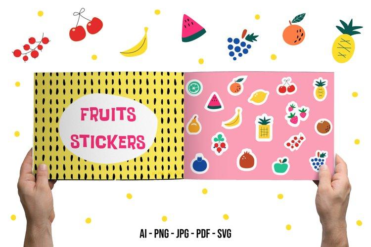 Fruit Stickers SVG