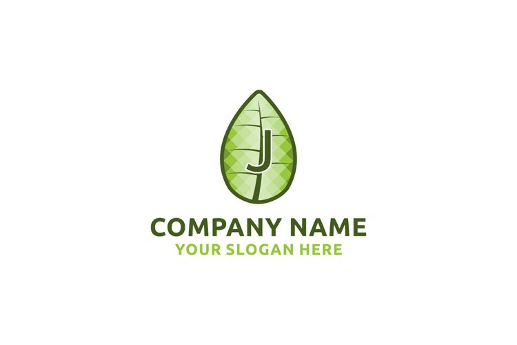 initial logo J leaf healthy Graphics Logos example image 1