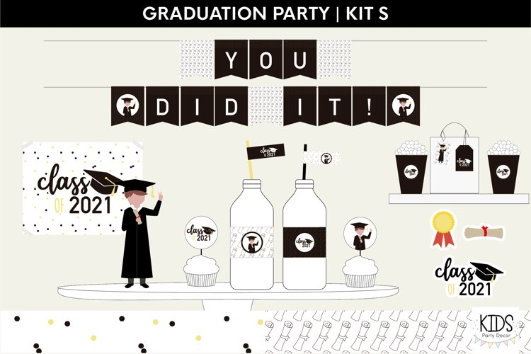 Graduation party decorations | Class of 2021 printable party