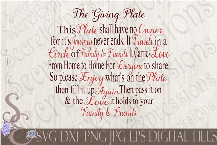 The Giving Plate example image 1