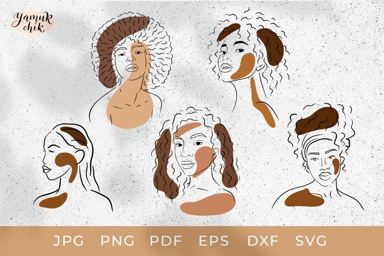 Black women Svg Bundle, Afro woman Bundle SVG Cut Files, PNG
