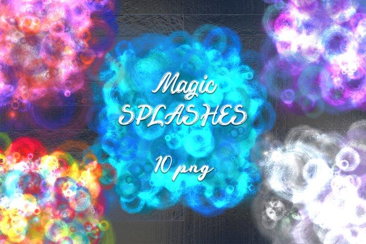 Bright colorful magic splashes.