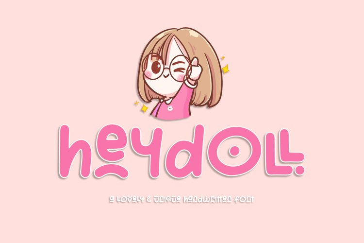 Heydoll - Lovely & Unique Handwritten Font example image 1