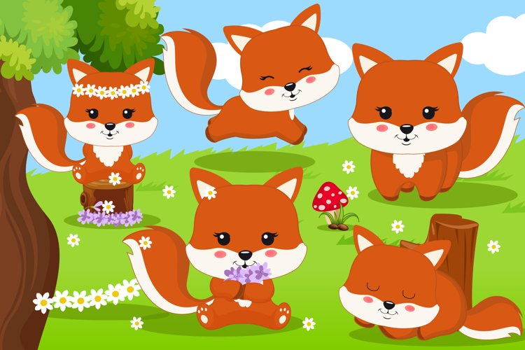 Fox clipart, Fox graphics example image 1