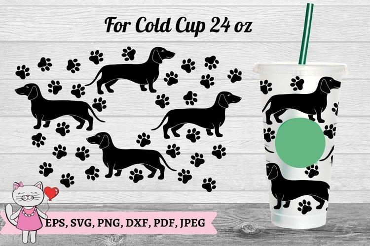 Dachshund dog Tumbler svg, Starbucks Cold Cup 24 s