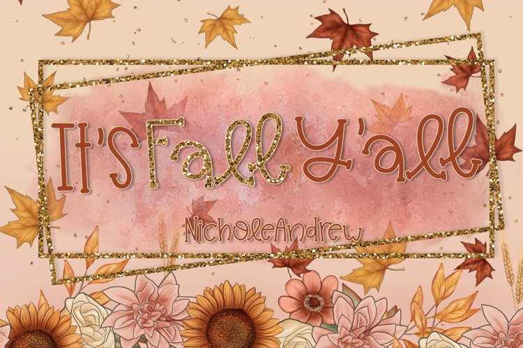 It's Fall Y'all - A Handwritten Font example image 1