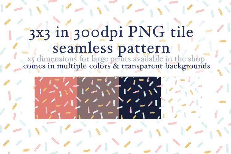 10 Confetti Tiles Seamless Pattern example image 1