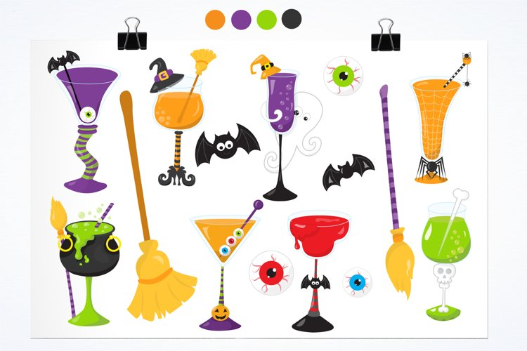 Halloween Cocktails graphics and illustrations - Free Design of The Week Design0