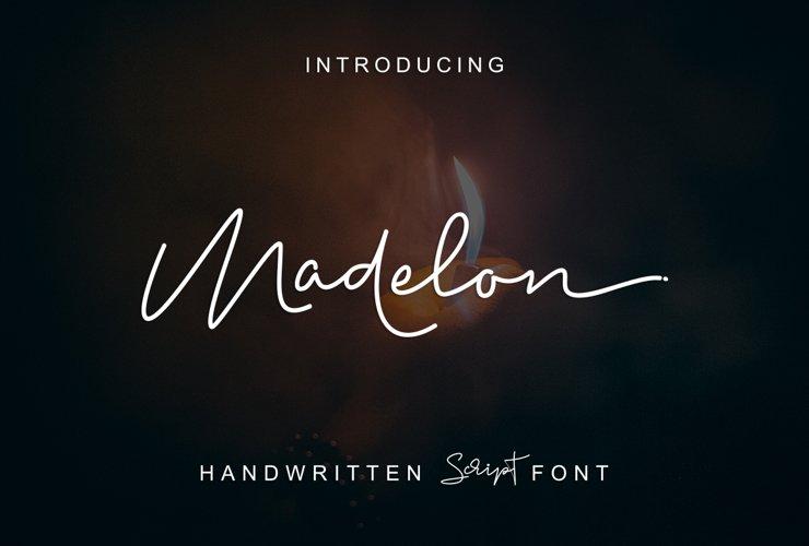 Madelon Script example image 1
