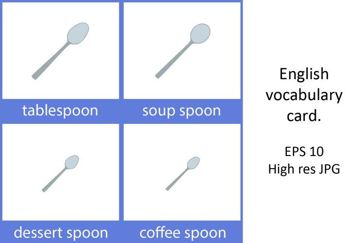 English vocabulary word card.