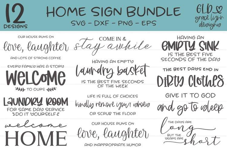 Home Sign Bundle - 12 Home SVG Designs example image 1