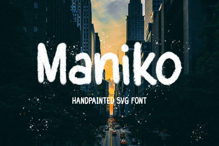 Maniko - Handpainted Svg Font example image 1