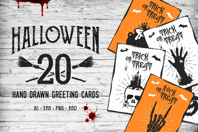 Halloween. 20 Greeting Cards - Free Design of The Week Design0