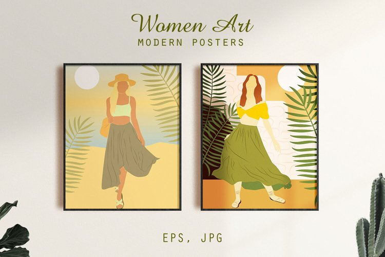 Women Art. Modern posters collection. example image 1