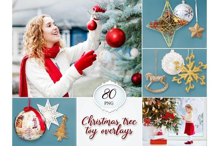 80 Christmas tree toy overlays