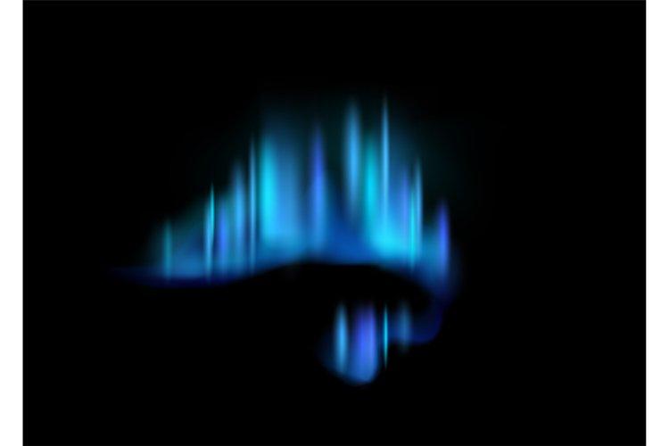 Northern lights. Realistic aurora borealis amazing polar lig example image 1