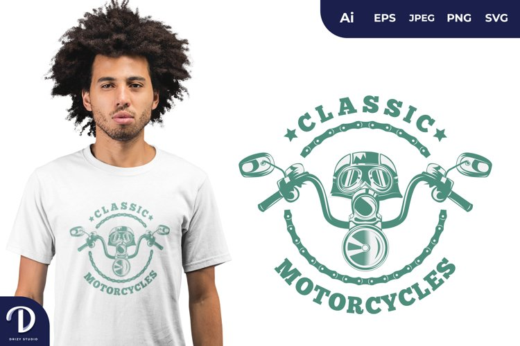 Classic Biker for T-Shirt Design example image 1
