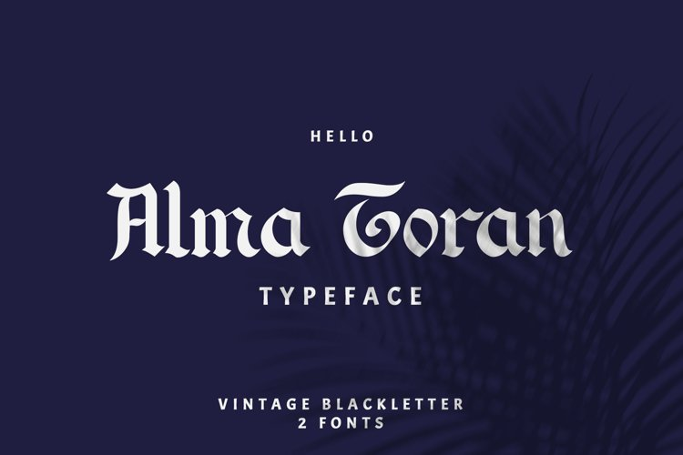 Alma Toran Typeface