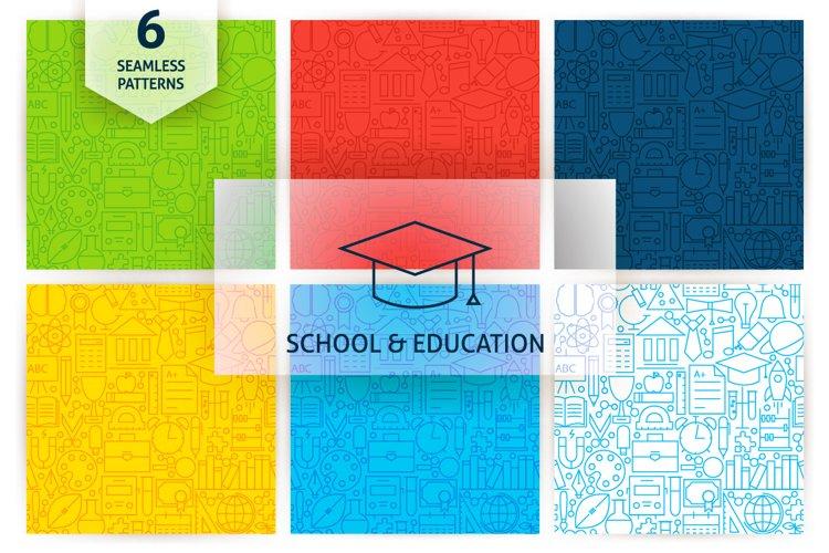 School & Education Line Tile Patterns example image 1