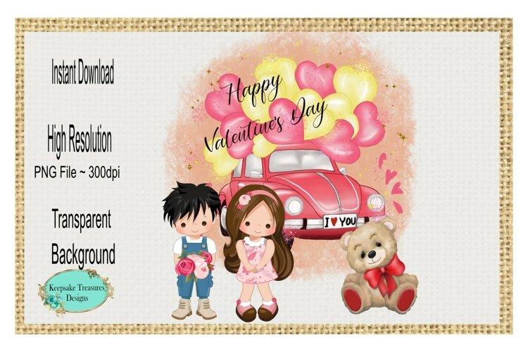 Happy Valentines Day, Sublimation Design