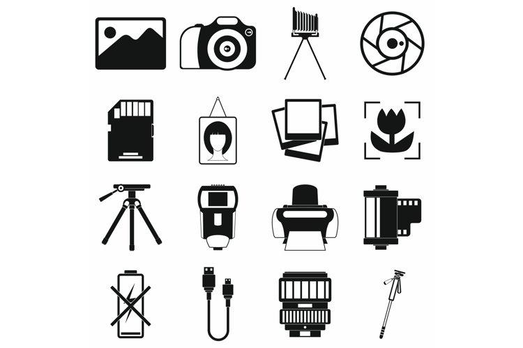 Photography set icons example image 1