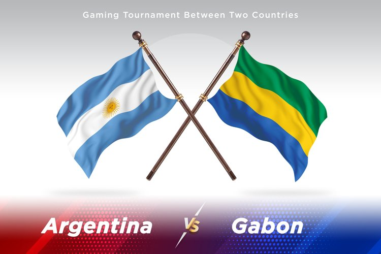 Argentina vs Gabon Two Flags example image 1